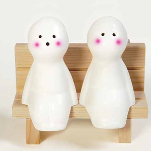 BOY+GIRL Ceramic Doll Cruet Set
